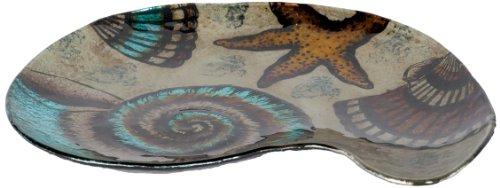 Unbekannt Angelstar 19022handgefertigt und Handbemalt Glas SEA Shore Schale Teller, 12Zoll -