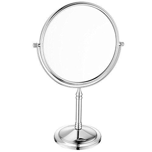 JYSPORT Make-up-Spiegel Badspiegel Tabletop Kompakt Eitelkeit Rasierspiegel Doppelseitige Vergrößerung mit 360-Grad-Swivel (Style 1) -