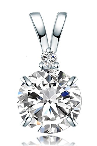 meranu-donna-collana-con-pendente-forma-punto-luce-brillante-solitario-e-zirconie-42-cm-argento-925