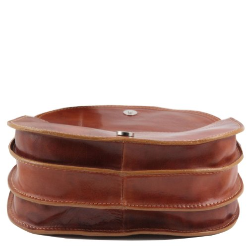 Tuscany Leather Isabella - Sac bandoulière en cuir Marron foncé Sacs à bandoulière en cuir Rouge