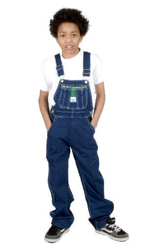 Liberty - Salopette Enfant - Bleu Indigo Garçon Fille Jean en Denim Coton Liberty