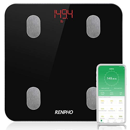 RENPHO Körperfettwaage, Bluetooth Personenwaage mit APP, Smart digitale Waage für Körperfett, BMI, Gewicht, Muskelmasse, Wasser, Protein, Skelettmuskel, Knochengewicht, BMR, usw. - Body Works Geschenk