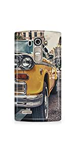 Casenation Vintage Yellow Car LG G4 Glossy Case