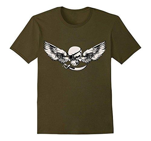 Pirates Head Summer Men's Short Sleeve Round Neck Cotton T-Shirt (Classic Alpha Polo Shirt)