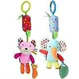 YEAHIBABY Tier Krippe Hängen Spielzeug Neugeborenen Kinderwagen Spielzeug Baby Bett Kinderbett Hängen Spielzeug,2 Stücke