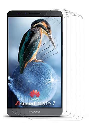 moex 5X Huawei Mate 7 | Schutzfolie Klar Display Schutz [Crystal-Clear] Screen Protector Bildschirm Handy-Folie Dünn Displayschutz-Folie für Huawei Ascend Mate 7 Displayfolie