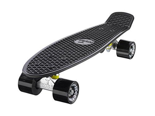 Ridge Skateboard Mini Cruiser, schwarz-schwarz, 22
