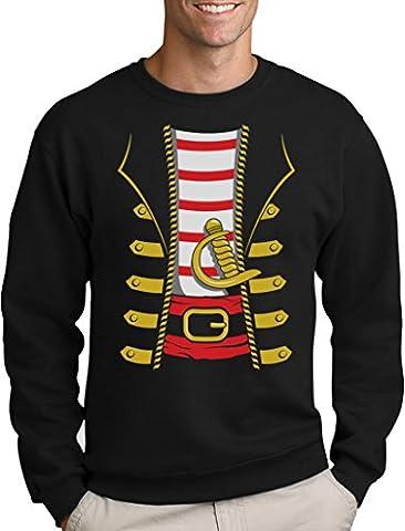 Sport Thèmes Costume Idées - Halloween Déguisement Costume de Pirate Sweatshirt Homme