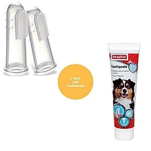 Tarot Health Dentifrice pour Chien Plaque avec 2 brosses à Dents pour Chien ou Chat