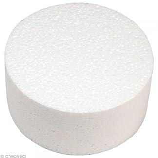 Rayher – Disco de poliestireno, diámetro: 10cm, Altura: 7cm, Ideal como Soporte para Cake Pops/Accesorio para Tartas Falsas