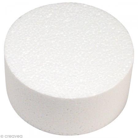 RAYHER Styropor Scheibe, Durchmesser:10cm, Höhe: 7cm, ideal als Cake Pop Ständer/ Kuchen-Dummy