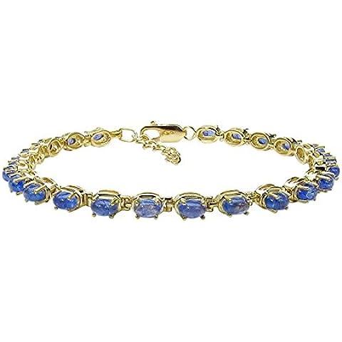 Goldancé - Bracciale da Donna argento sterling 925 placcati in oro vera Tanzanite - B265TAN_SGP