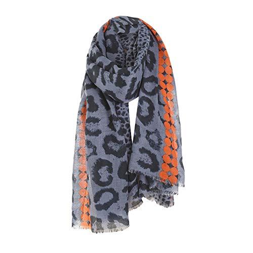 GreatestPAK Damen 'Leopard-Printed Tassel Schal Herbst Winter Baumwolle ()