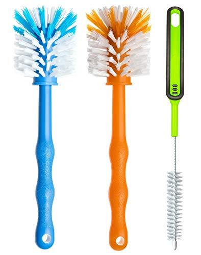 Set di tre spazzole per la pulizia - Spazzola per la pulizia delle lame e del boccale - Spazzolino accessori ideali per la pulizia, ad esempio, di Bimby ® TM5/TM31/TM21/mixer (blu/arancione/verde)