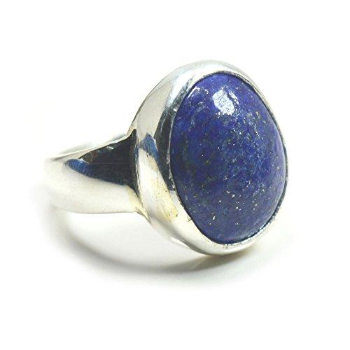 jewelryonclick 10?Karat nat?rlicher Lapislazuli schlichtes Ring f?r M?nner Sterling Silber Gr. UK J 1/2???Z - 59 (18.8)