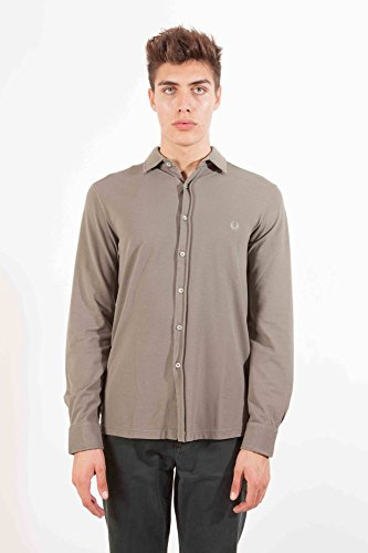 FRED PERRY 30162278 CAMICIA MANICHE LUNGHE Homme Verde