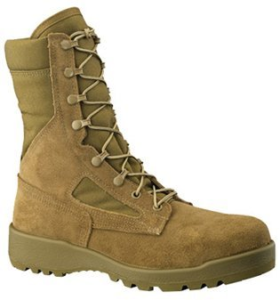 Belleville 551 Hot Weather Steel Toe Coyote Tan 8 Combat Boot, Made in USA - Hot Weather Combat Boots