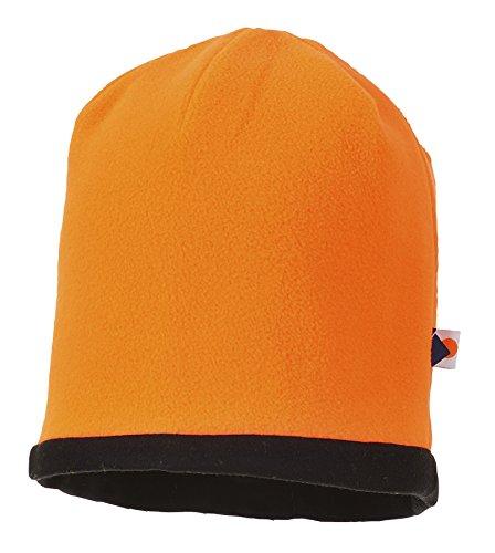 Portwest Workwear Reversible Hi-Vis Beanie Hat - HA14 - EU / UK Orange / Schwarz