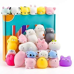 KUUQA 25Pcs linda Squeeze juguetes