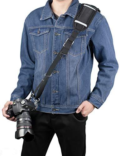 dslr tragegurt Kamera gurt, Sugelary Schnellverschluss Schwarz Kamera Tragegurt Schultergurt Kameragurt für Canon Nikon Sony Fujifilm Olympus DSLR SLR (F-3)