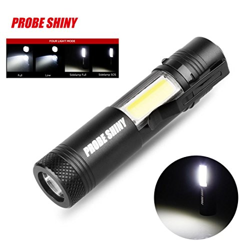 lifetrend Super Hell Taschenlampe, XM-L Q5+ COB LED-4Modus 3500LM 14500Taschenlampe