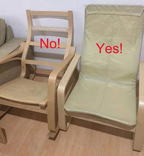 Custom Slipcover Replacement Couvrir Seulement! La Chaise n'est Pas Incluse! Housse en Coton pour Housse de Fauteuil IKEA Pello (Coton Blanc)