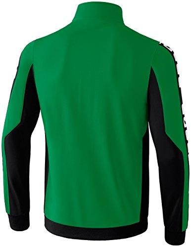 CLASSIC 5-CUBES Polyesterjacke Smaragd/Schwarz/Weiß