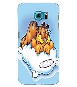 ColourCraft Funny Cartoon Cat Design Back Case Cover for SAMSUNG GALAXY S6 EDGE G925