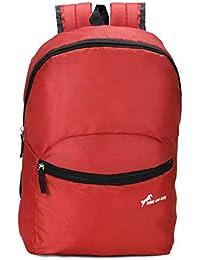 Chris & Kate Red-Black Small Tuition Bag | Casual Backpack |College Bag |Multi-Purpose Bag(20 Litres)(CKB_197KF)