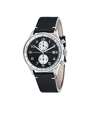 Men's Chrono Watch Spinnaker sp-5050 – 01 Double Strap Leather And Nato Chronograph