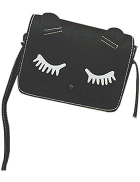 BZLine® Frauen Messenger Bag Katze Tasche Handtasche Taschen Mädchen Taschen