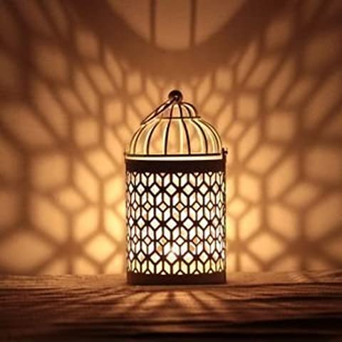 PortacandeleFerro circolare portacandeleLa peste/Lampada da soffitto/Artigianato