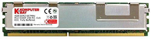 Komputerbay Arbeitsspeicher (4 GB RAM, FBDIMM, 667 Mhz, PC2-5300, ECC DDR2, Dual Rank 2Rx 4)