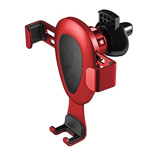 QIHANGCHEPIN Supporto per telefono iPhone6plus sensore di gravità a sbalzo Staffa di rotazione libera a 360 ° funzionamento facileIphone 8 / X / 7 / 7P / 6s / 6P / 5S staffa di montaggio universale ( Colore : Rosso )