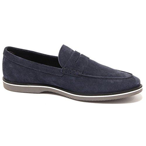 3823Q mocassino uomo HOGAN blu scarpa suede blue shoe men Blu