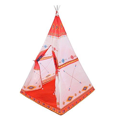 Nwn Tende da Gioco per Bambini Giocattoli esotici Yurt Nets Casetta Pieghevole (Arancione 150 * 90 * 90cm Imballo da 1)