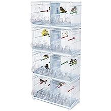 Kookaburra x4alerce pequeño doble alambre jaula para cría de Finch, Canarias, etc.