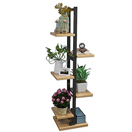 Mensole duo scaffale a 5 piani per espositori portafiore in ferro per porta da soggiorno e camera da letto e da interno/esterno scaffali (colore : 1001)