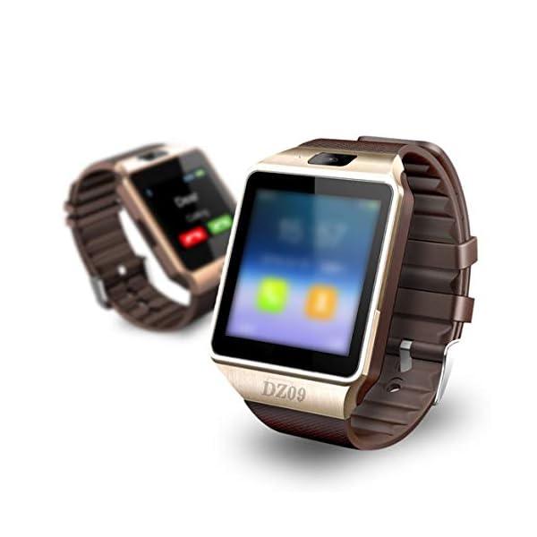 Funnyrunstore Smart Watch Dz09 Gold Silver Smartwatch Relojes para iOS para Android Sim Card Camera Camera Watch 5