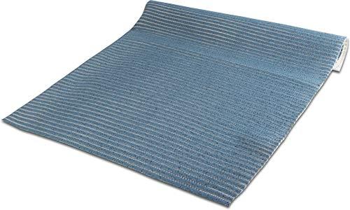 GearUp 130 cm Breiten Badvorleger/Rutschfeste Matte/Bodenbelag aus PVC Weichschaum, wasserabweisend und rutschhemmend für Bad, Dusche oder Küche Farbe Blau Größe 140 cm