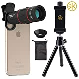 3KeysTM 18X Cell Phone Camera telephoto Lens, Zwish Zoom Telephoto Universal Clip On