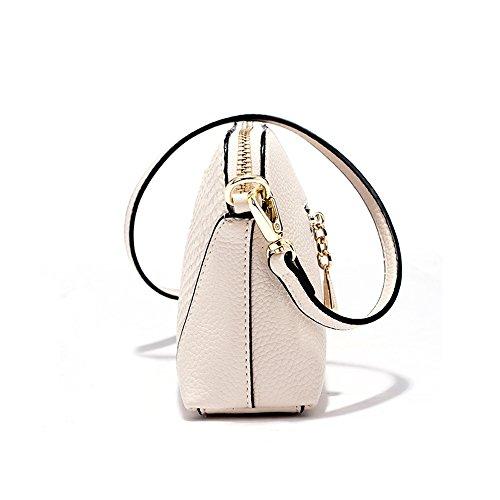 Frauen Schultertasche - PU Leder Frauen Handtasche Crossbody Taschen Damen Rucksack Mädchen Schule Tasche Reisetasche Beige
