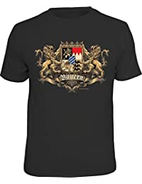RAHMENLOS Original T-Shirt für den echten Bayern Fan: Ritterwappen Bayern