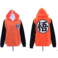 ta-13–1GO Dragon Ball Son Goku Cosplay Felpa con cappuccio arancione Pullover Hoodie