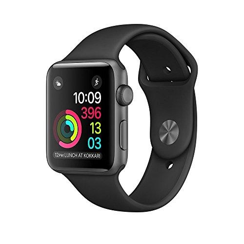 Apple Watch Series 2 - Cassa 42 mm in Alluminio Grigio Siderale - Cinturino Sport nero (Ricondizionato Certificato)