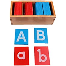 MagiDeal Montessori Educativos Juguetes de Alfabetos Aprendizaje Carta de Madera para Niños Bebé