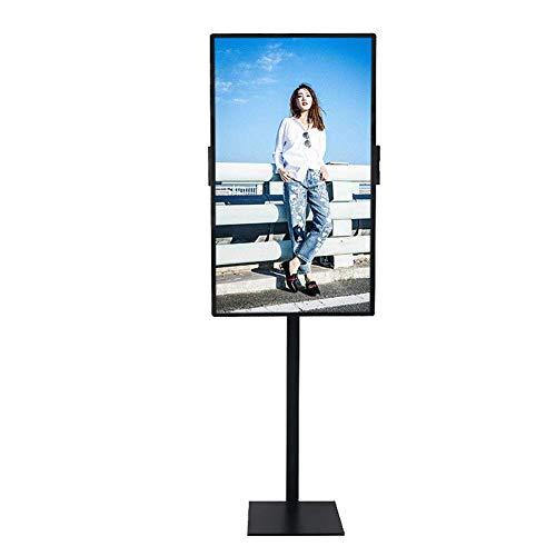 Universal-TV-Wagen, TV-Ständer für 50-Zoll-LCD-LED-TV-Werbemaschine Stand-Alone/Network Electronic Advertising Screen Home Office (Split-screen-tv)