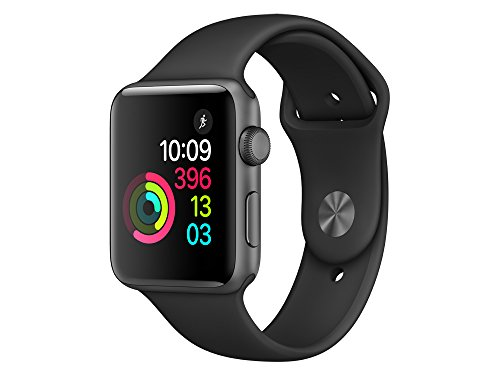 "Apple MP062ZD/A ""Watch 2"" Sportarmband 42mm, Aluminium schwarz"