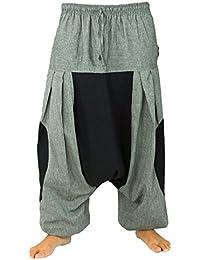 Haremshose, Pluderhose, Pumphose, Aladinhose - steingrau / Männerhosen, alternative Bekleidung von Guru-Shop