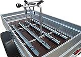Universal Fahrradträger für PKW-Anhänger (Set 4 Fahrräder, 1.090-1.250mm Ladeflächenbreit) mit Haltearme